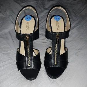 Michael kors zip front heels size 7.5